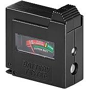Wentronic 54020 Batterietester für AAA, AA, C, D, 9 V, N- und Knopfzellen