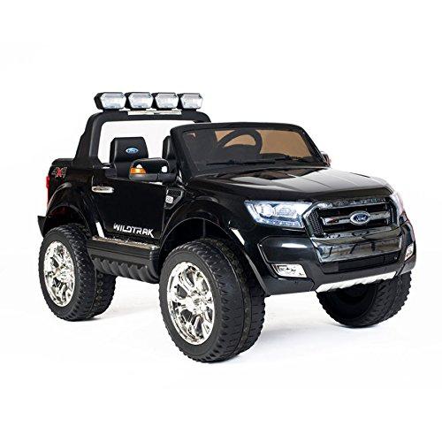 """Kinderfahrzeug - Elektro Auto """"Ford Ranger, neues Modell"""" - lizenziert - 2x 12V7AH Akku,4 Motoren+ 2,4Ghz+MP4+Ledersitz+EVA+2 Sitzer (Schwarz)"""
