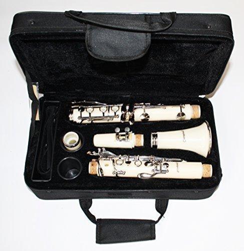 Cherrystone 4260180883640 tolle Bb Klarinette mit Koffer/Zubehör weiß