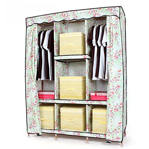 MMM& Oxford Armoire en tissu Ensemble simple en tissu Placard combiné en bois massif Enfants en bois Pliant Grand (couleur : # 2)