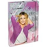 Undercover viae0940-Cuaderno Box A4Disney Violetta, lomo de 4cm, Gris