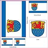 UB Aufkleberbogen Landkreis Darmstadt - Dieburg Set Flagge/Fahne (Autoaufkleber)