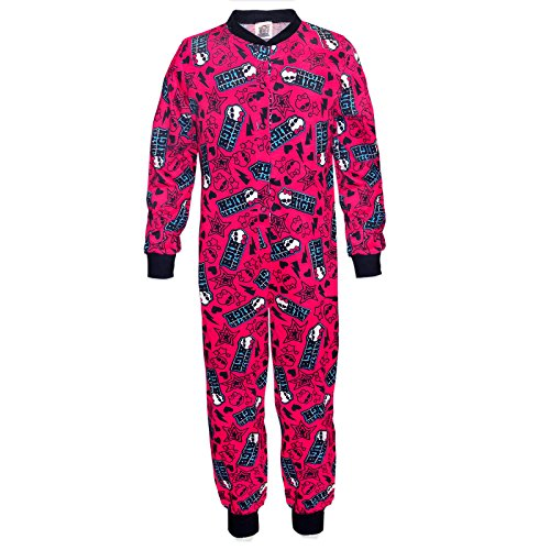 Mattel Monster High - Mädchen Schlafanzug-Overall - Offizielles Merchandise - Geschenk - Schwarz - 5-6 Jahre