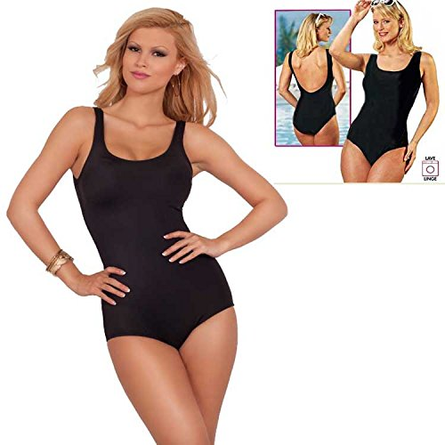 Lycra ® Slimming Black Swimsuit - One piece - Size XL 16/18