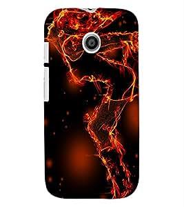 ColourCraft Flaming Girl Design Back Case Cover for MOTOROLA MOTO E