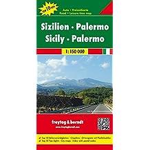 Sizilien - Palermo, Autokarte 1:150.000, Top 10 Tips, freytag & berndt Auto + Freizeitkarten