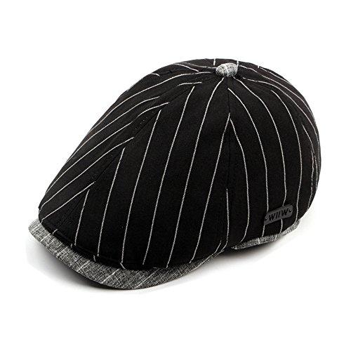 Casquette Hommes Garçons Coton Chapeau D'Hiver Printemps Automne Noir