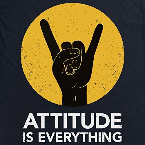 Attitude Is Everything Horns Light T-Shirt, Herren Schwarz