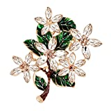 nuohuilekeji Lady Retro Multicolor Blume Emaille Strass Brosche Abend Party Jewelry – Multicolor