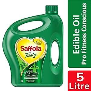 Saffola Tasty, Pro Fitness Conscious Edible Oil,Jar, 5 L