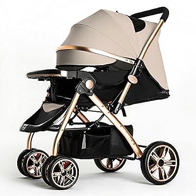QFFL Carro plegable para bebé / Ultraligero portátil / Niño sentado alto descanso Paisaje Coche Coche de niño