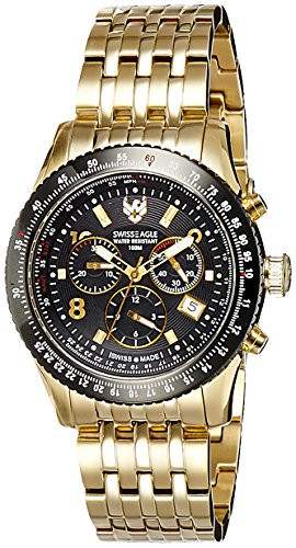 Swiss Eagle Analog Black Dial Men's Watch - SE-9023-44