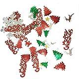 Toyvian 100g Natale Paillettes di coriandoli Buon Natale Xmas Tree Table Confetti per Xmas Holiday Wedding Birthday Party Decorazioni da tavola Bomboniere (Misto)