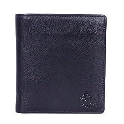 Kara Black Color Leather Wallet For Men