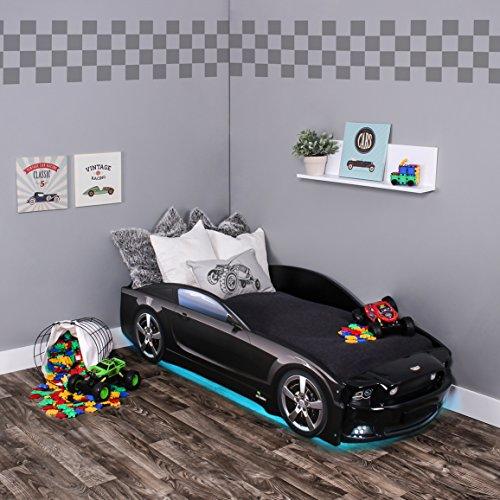 KAGU Autobett Kinderbett Jungendbett Juniorbett im Design eines echten Autos auch mit LED-Beleuchtung erhältlich. Praktisches und bequemes Bett für Ihr Kind. -