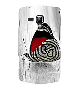 HiFi Designer Phone Back Case Cover Samsung Galaxy S Duos S7562 ( Colorful Butterfly Pattern Design )