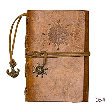 LQZ(TM) Rétro Navigation Voyage Bloc-notes Carnet pirate Agenda Calepin Journal Cuir Cover