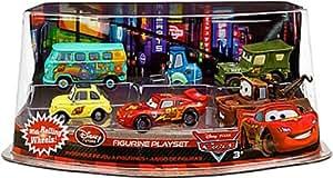 Disney / Pixar CARS 2 Movie Exclusive PVC Figurine Playset Lightning McQueen Pit Crew Includes Luigi Guido McQueen Mater Sarge Filmore