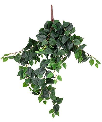 artfleur – künstlicher Philodendron Hänger Busch Ranke 70 cm