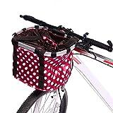 NACHEN Fahrrad Korb Berg faltender Hängender Korb Aluminiumlegierung Gefalteter Wasserdichter Fahrrad Korb, Red