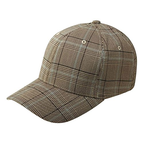 Flexfit Casquette PLAID HAT brown khaki, S/M