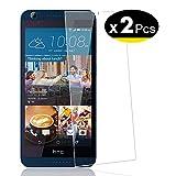 NEW'C Verre Trempé pour HTC Desire 626,[Pack de 2] Film Protection écran - Anti Rayures - sans Bulles d'air -Ultra Résistant (0,33mm HD Ultra Transparent) Dureté 9H Glass