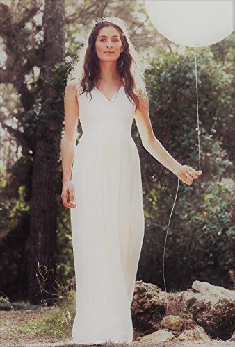 Bellybutton Damen Umstandsmode Kleid 11805/ Dilara creme ( altweiss)
