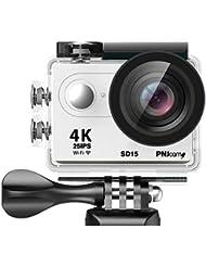 PNJ SD15 Caméra de sport UHD 4K 25ips - Full HD 60ips - Capteur CMOS 12MP - Wifi