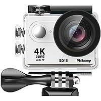 PNJ SD15Fotocamera di Sport UHD 4K 25ips–Full HD giroscopio–Sensore CMOS 12MP–Wi-Fi