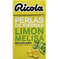 Ricola - Caramelos de goma sin azúcares,Perlas de Hierbas, Limon - 25 g - [Pack de 4]