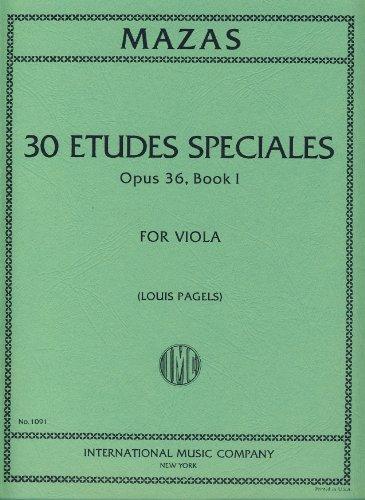 Méthodes et pédagogie IMC MAZAS J. F. - 30 ETUDES SPECIALES BOOK 1 OP.36 - ALTO Alto par  MAZAS