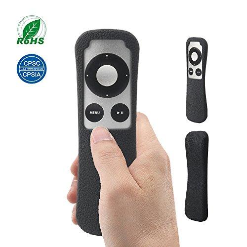 Protector Funda de Silicona Anti-Golpe Caso para Apple TV 3 Mando a Distancia SIKAI Absorción de Golpes Antideslizante Estuche para Apple TV 3rd Remote Controller (Negro)
