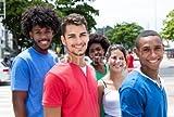 druck-shop24 Wunschmotiv: Lachende Jugendgruppe in der Stadt #109395362 - Bild auf Leinwand - 3:2-60 x 40 cm/40 x 60 cm