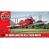Airfix 1:72 Scale De Havilland Tiger Moth Model Kit (42 Pieces)
