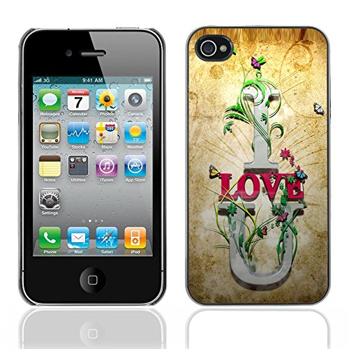 Graphic4You I Love You Message With Flowers Design Harte Hülle Case Tasche Schutzhülle für Apple iPhone 4 und 4S Design #21