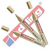 Edding 750 Marcador de pintura 3er Paquete de ahorro 9 FARBEN & SURTIDOS A ELEGIR - oro, 3er Set
