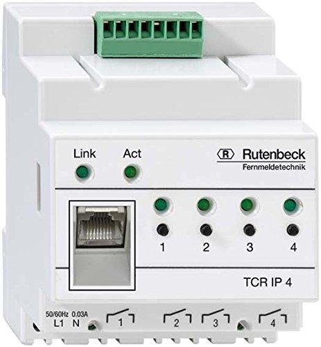 Rutenbeck REG Fernschaltgerät über TCP/IP-Netzwerk 4-fach, TCR IP 4, 1 Stück, 700802610