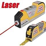 Drillpro 2.5M Niveau Laser Alignement Horizontal Vertical / Ruban Mètre Inclinometre à mesurer Aligner Multipurpose règle verticale