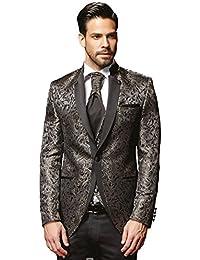 Herren Anzug - 8 teilig - Schwarz Champagner Designer Hochzeitsanzug TOP ANGEBOT NEU PC_19