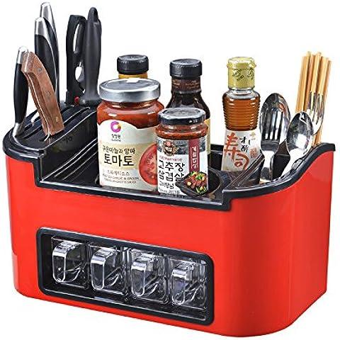 MEICHEN-Racks de herramienta de cocina cocina cuchara palillos bandeja para rack de almacenamiento estante de vino de