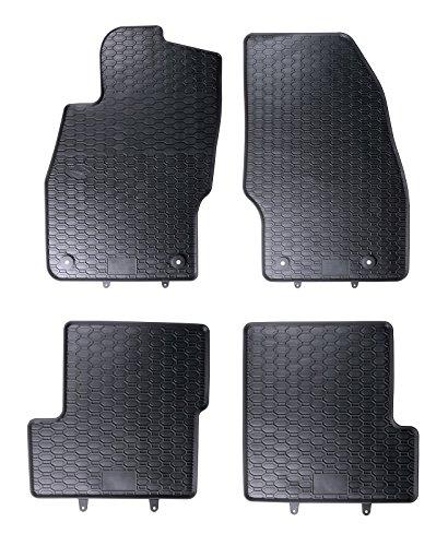 AME - Auto-Gummimatten Fußmatten, Geruch-vermindert, Passgenau und mit Anti-Rutch-Oberfläche 802/4C