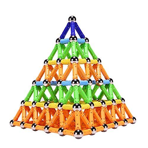 PlayMaty Magnetic Building Blocks Toys 306 piezas de acero magnético Stick and Stack Toys para niños pequeños