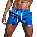 Coolster Herren Stretch verstellbare Unterhosen Schwimmen Höschen Strand Badehose Shorts Breathable Bademode (Tag L, Blau)