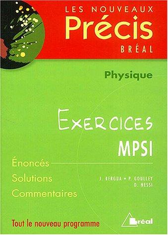 Physique MPSI : Exercices