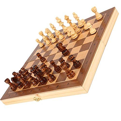 Schach Magnetic, Wood Upscale Kinder Anfänger Schüler Large Size Schachfiguren Schachbrett