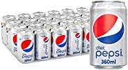 Diet Pepsi, Carbonated Soft Drink, Cans, 24x360ml