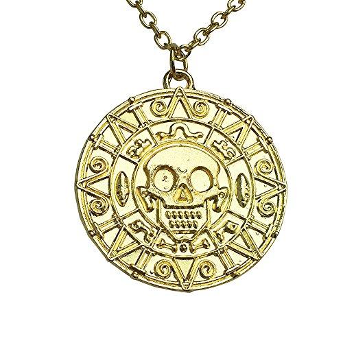 Piraten der Karibik Schatz Azteken Schädel Münze -