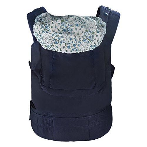 Rheshine Babytrage Babytragetasche Baby Fördermaschine Rucksack mit schützender Schlafkappe, Einstellbar Schnalle, Bauch und Hüfttrage Tragegurt für Babys und Kleinkinder von 3-36 Monaten (blau)