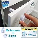 10 Bloque Porte Invisible + 3 clés + BONUS - NODI - HAUTE QUALITÉ - Sécurité...