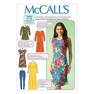 McCalls Mesdames Patron de Couture Facile 7122Tunique, robes et Leggings pour